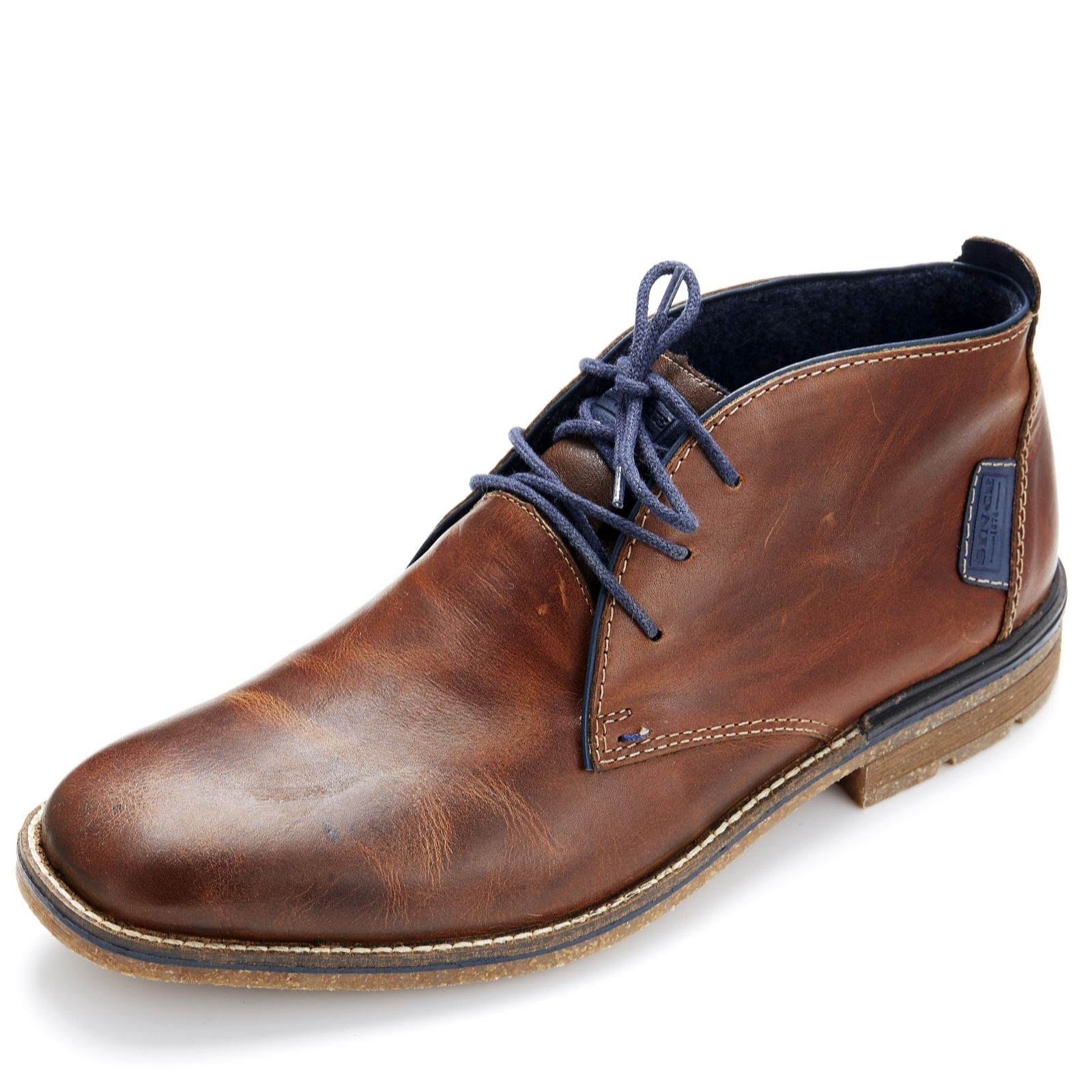new product 6efcb fd106 Rieker Men's Leather Lace Up Boot - QVC UK