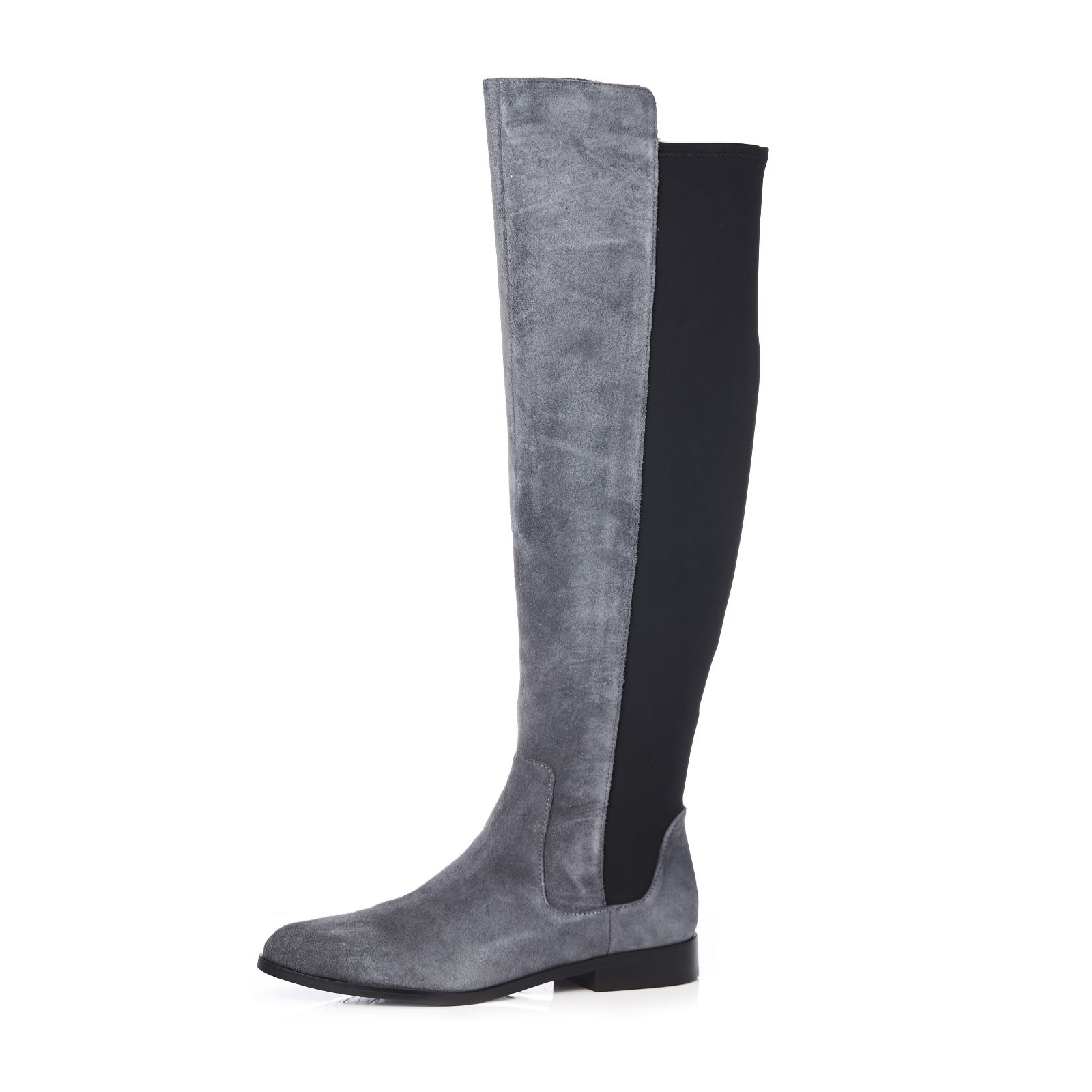 38b72b90cd6 Clarks Daina Rae Over The Knee Leather Boot Standard Fit - QVC UK
