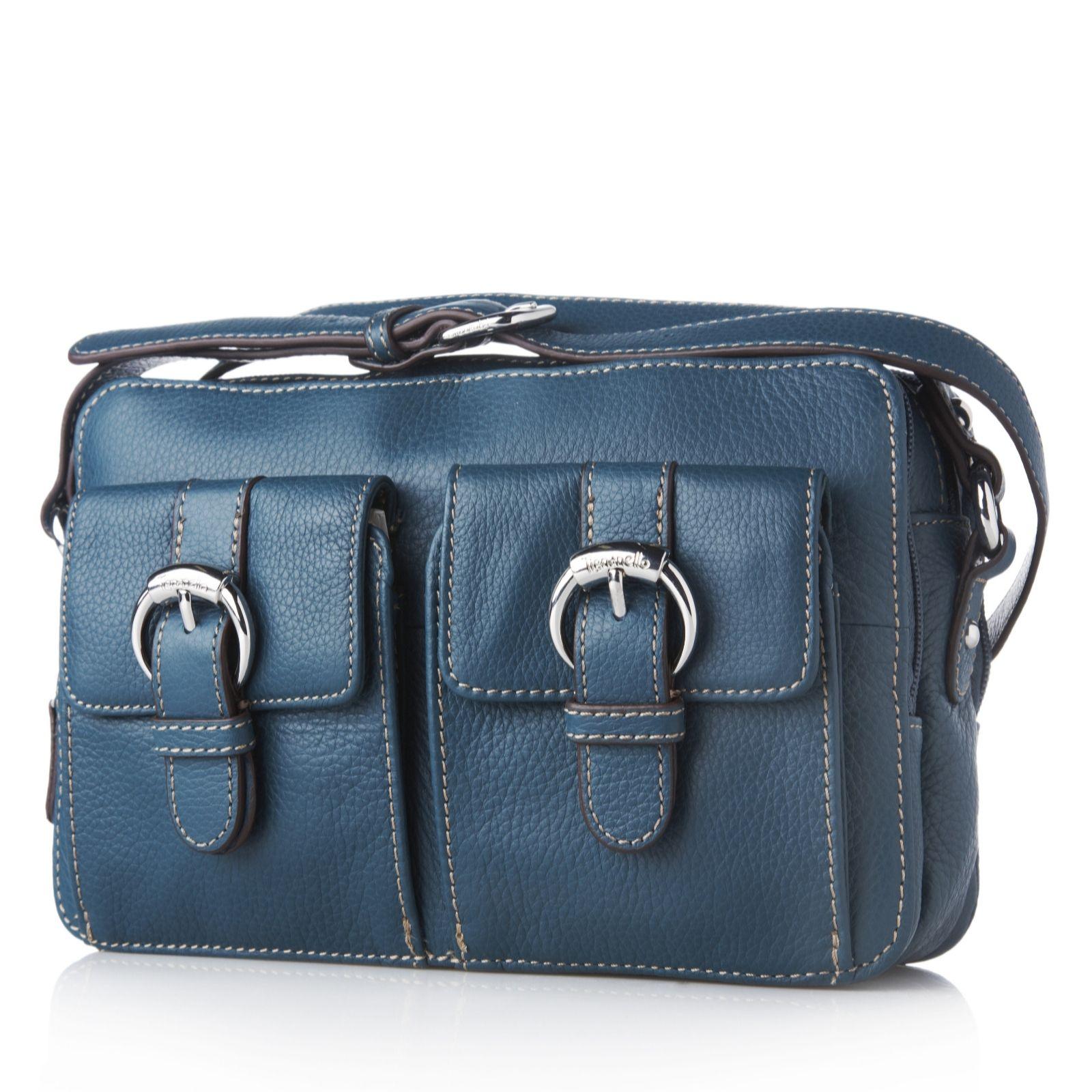 45023bfbf9 Tignanello Pebble Leather Organiser Cross Body Bag - QVC UK