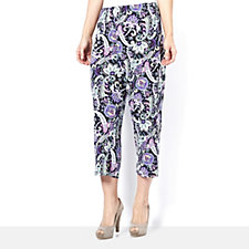Paisley Print Crop Trousers by Michele Hope