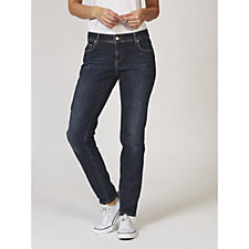 Betty & Co Lou Distressed Mid Rise Skinny Jeans