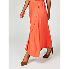 Join Clothes Cross Over Tulip Hem Skirt with Stretch Waistband