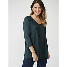 Together Lace Front Jersey Sleeve Top