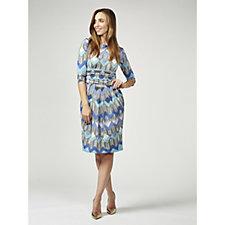 Sydney 3/4 Sleeve Printed Dress by Onjenu London