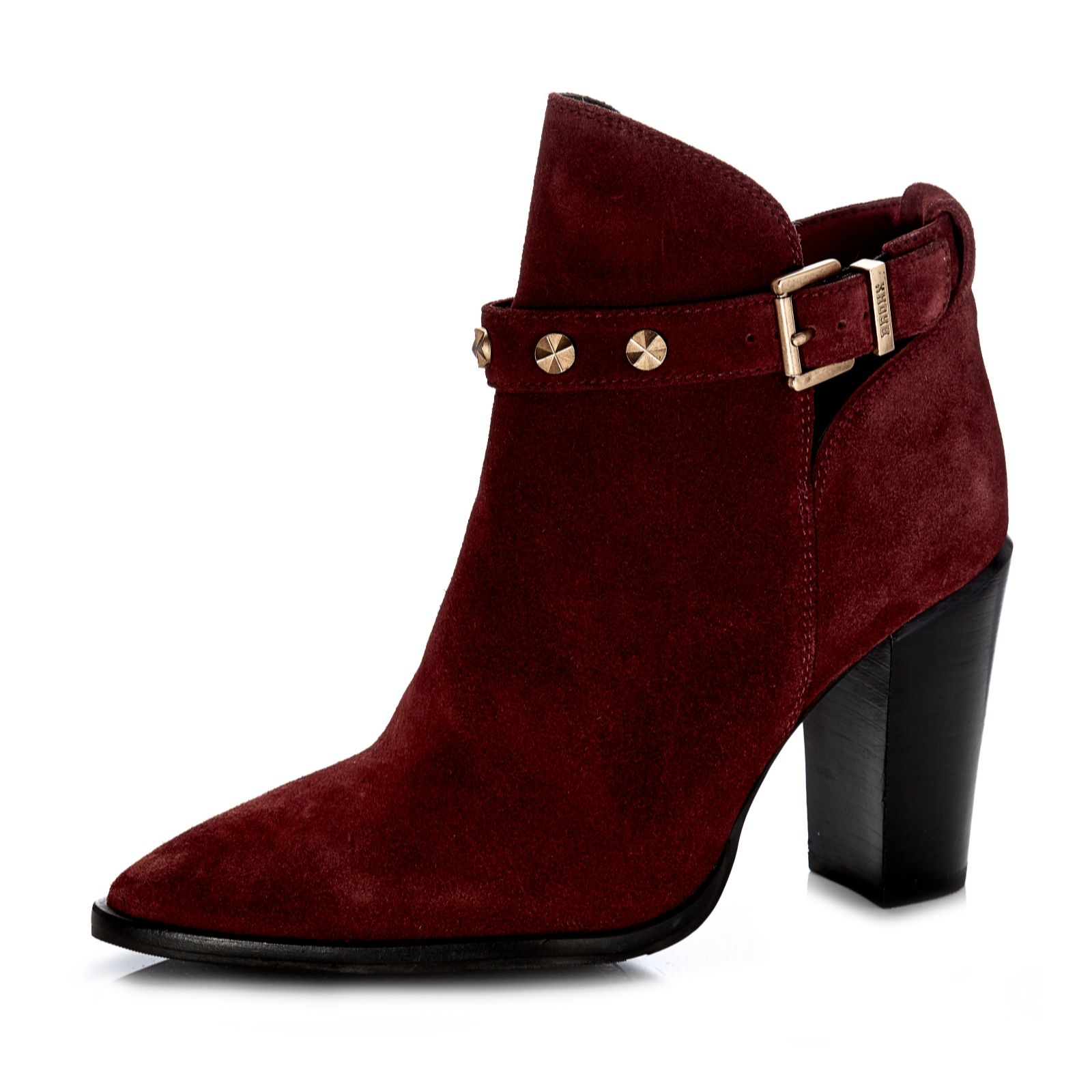 100% quality online store utterly stylish Bronx Pointed Ankle Boot with Studded Buckle Detail - QVC UK