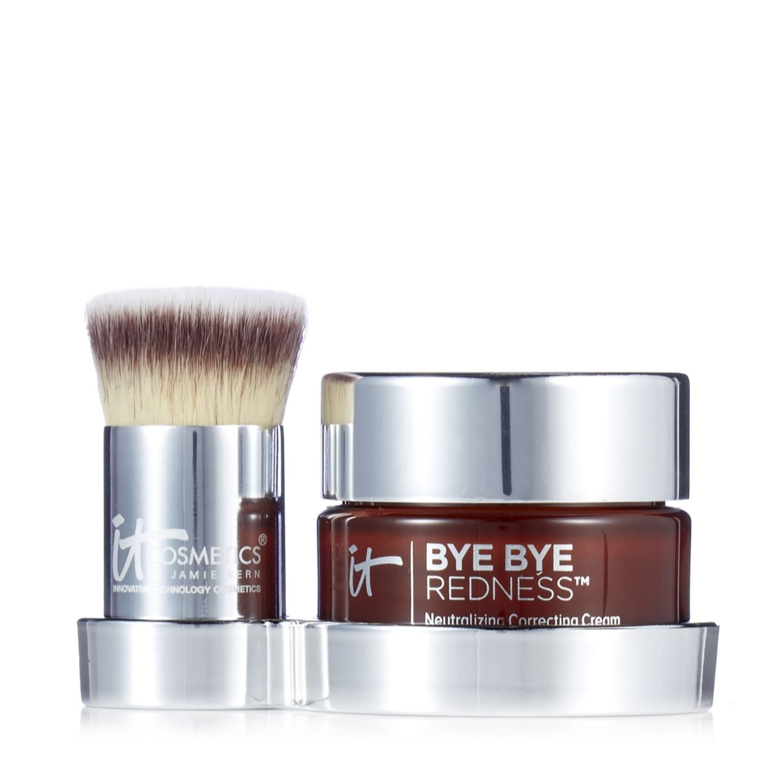 It Cosmetics Bye Bye Redness With Brush Stand Page 1 Qvc Uk