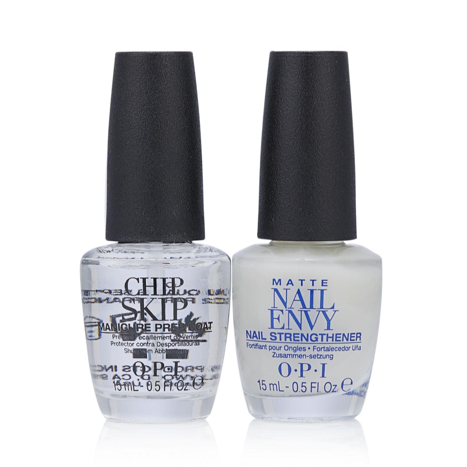 OPI 2 Piece No Chips Matte Nail Envy & Chip Skip - QVC UK