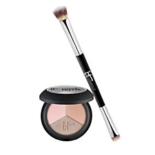 232512 - IT Cosmetics Naturally Pretty Eyeshadow Trio & Heavenly Luxe Dual-Ended Brush