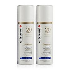 Ultrasun Sun Protection Glimmer SPF 20 150ml Duo