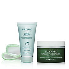 Liz Earle Superskin Moisturiser 50ml With 30ml Cleanse & Polish