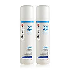 Ultrasun Sun Protection Sports Gel SPF 20 200ml Duo