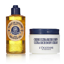 L'Occitane 2 Piece Soft As Shea Shower Oil & Body Cream
