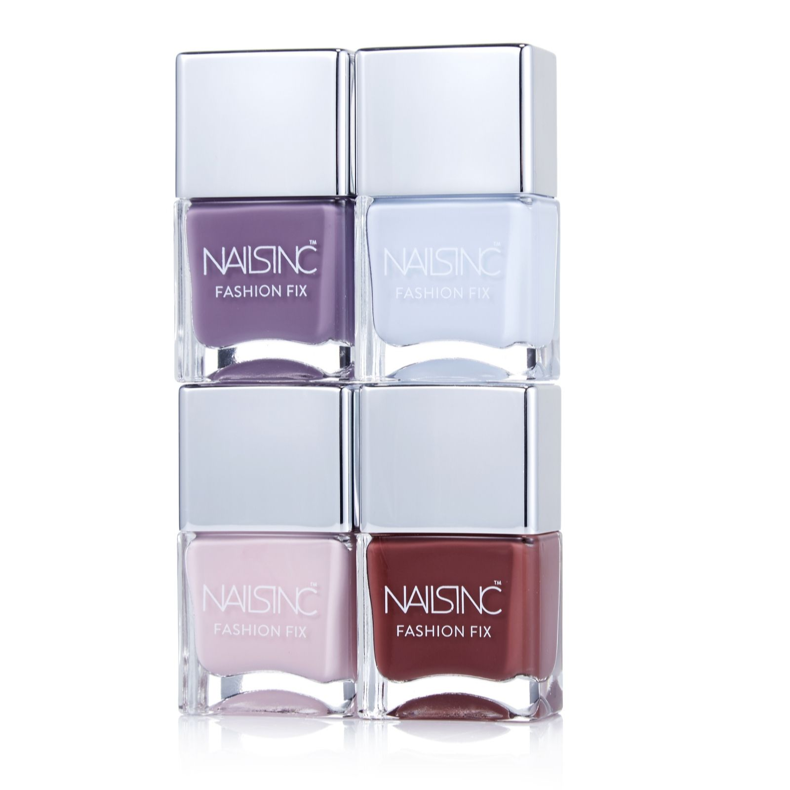 Nails Inc 4 Piece Fashion Fix Collection - QVC UK