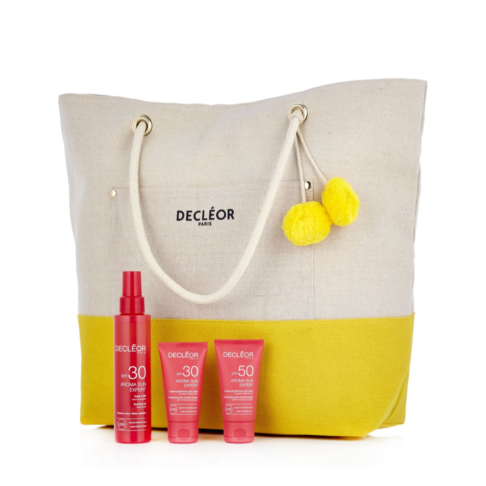 d0daeb77f385 Decleor 3 Piece Anti-Wrinkle Aroma Sun Expert Collection & Bag - QVC UK