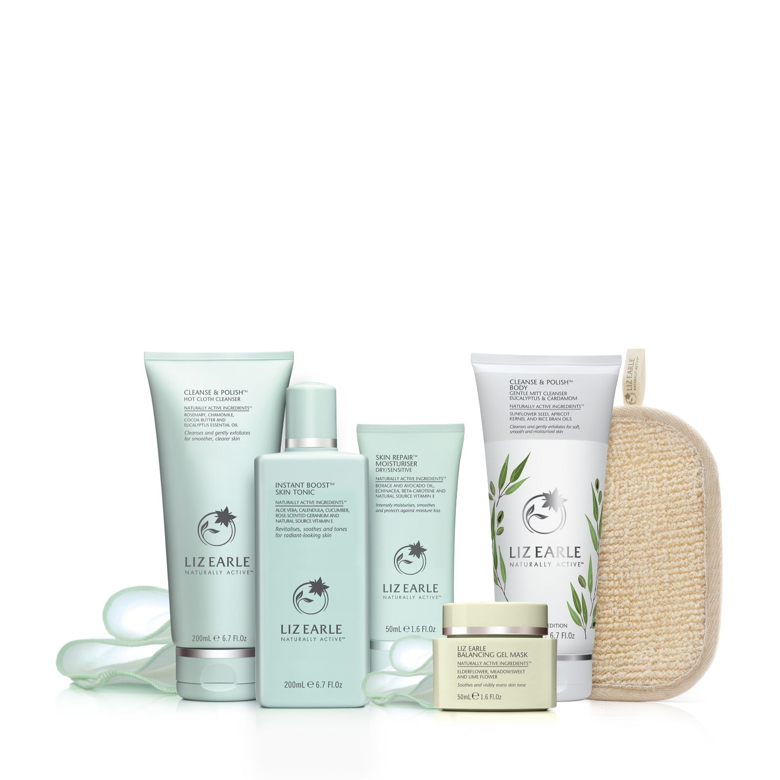 1fb61a034a8c Liz Earle 5 Piece Cleanse   Balance Face   Body Collection - QVC UK