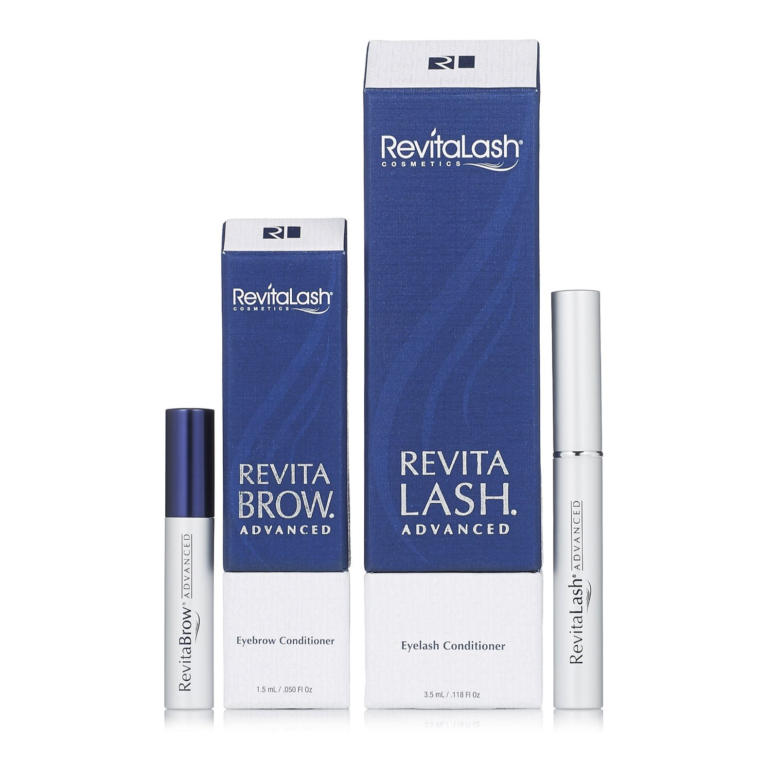 Revitalash 35ml Eyelash 15ml Eyebrow Advanced Conditioner Set