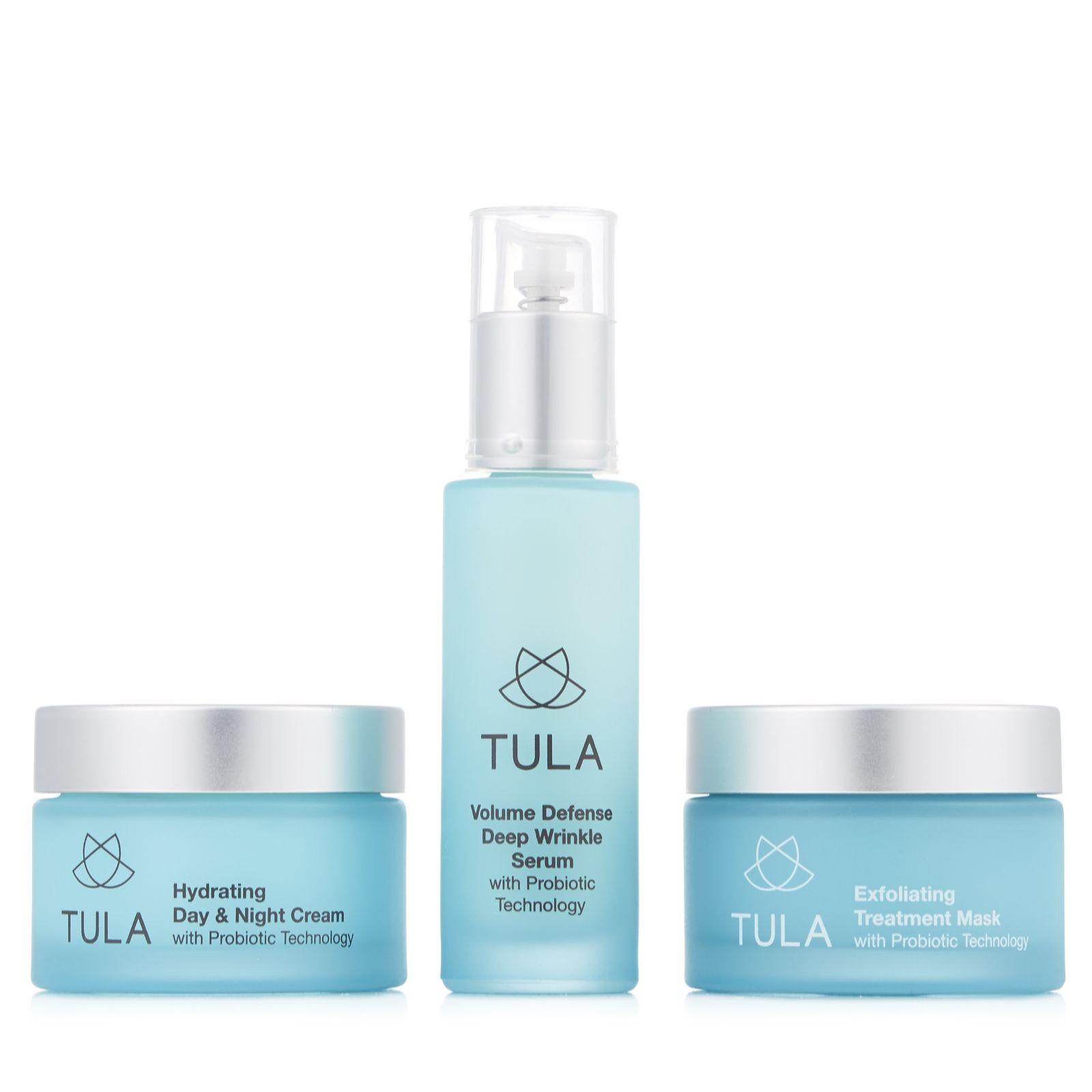 a36bc462683a Tula Probiotic Skincare 3 Piece Anti Ageing Essentials - QVC UK