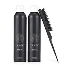 Tweak'd Kauri 2XL Fiber Lift Dry Volumizing Spray Duo 275ml With Teasing Brush