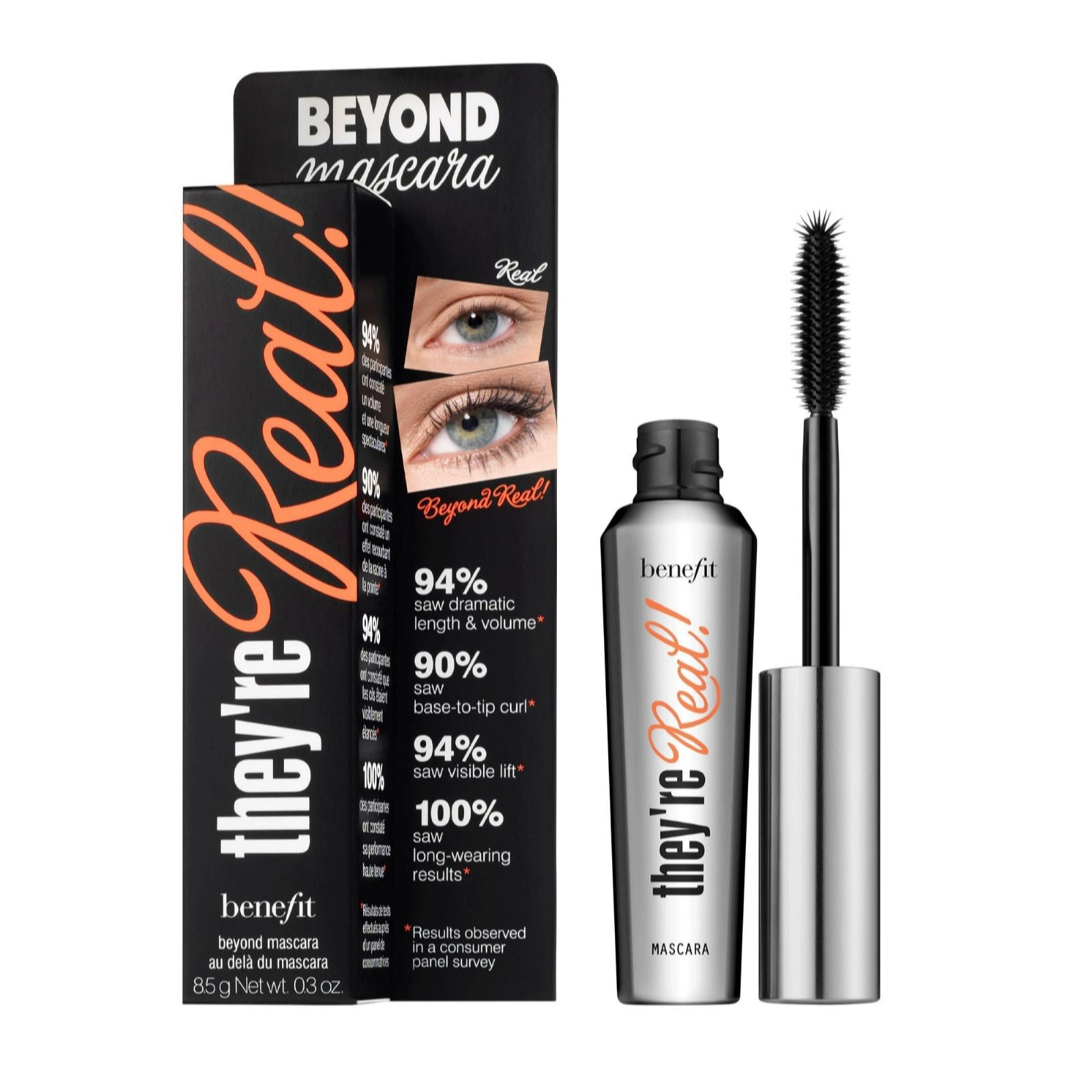 db6f18afd9b Benefit Mascara They're Real 8.5g - Page 1 - QVC UK