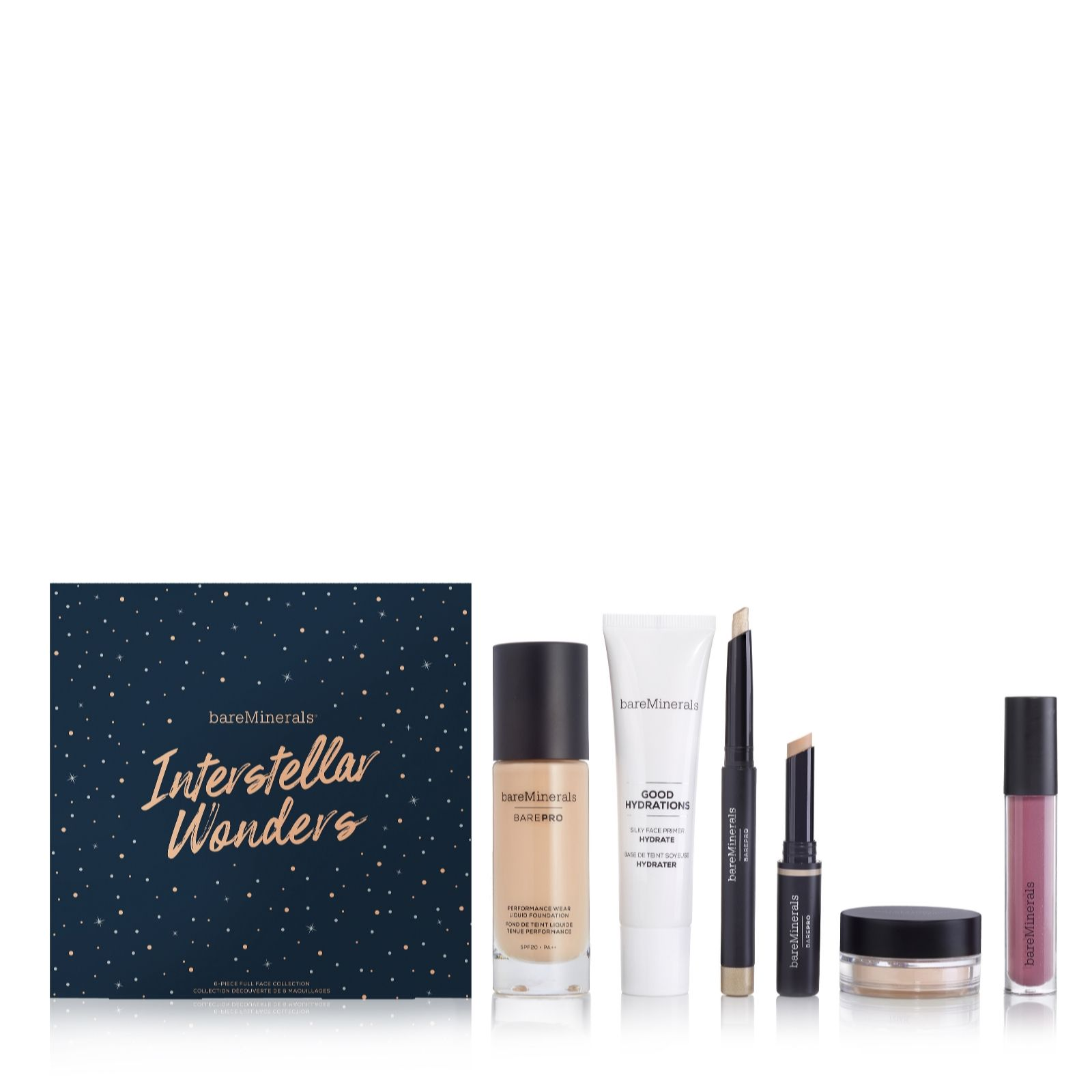 69410c663cc6 Bareminerals 6 Piece BarePro Interstellar Wonders Make-up Collection - QVC  UK
