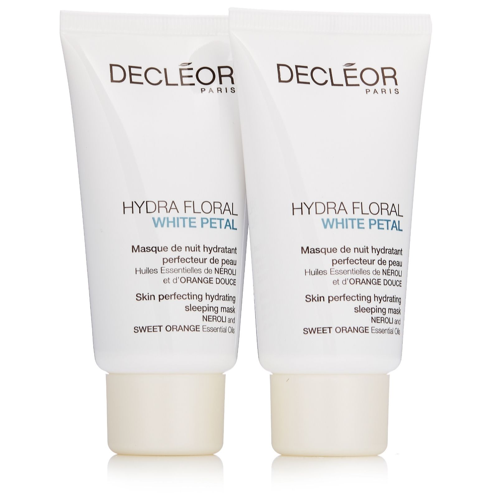 27a8f9abe Decleor Hydra Floral White Petal Sleep Mask Duo - QVC UK