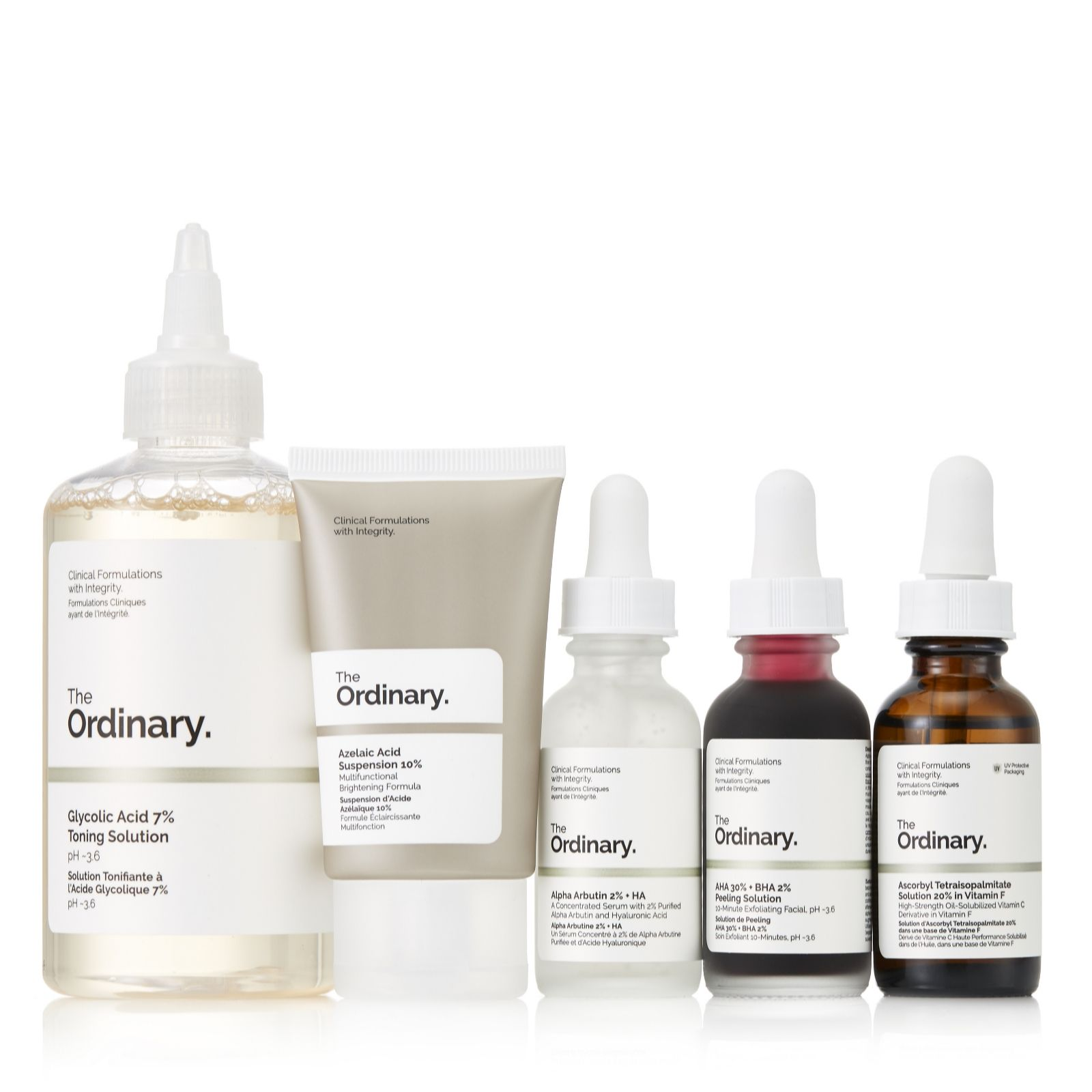Dressing Dans Petite Piece the ordinary 5 piece glowing skin collection - qvc uk