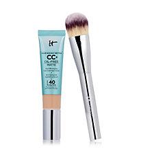 IT Cosmetics Full Coverage SPF 40 CC+ Oil-Free Matte & Plush Paddle Brush