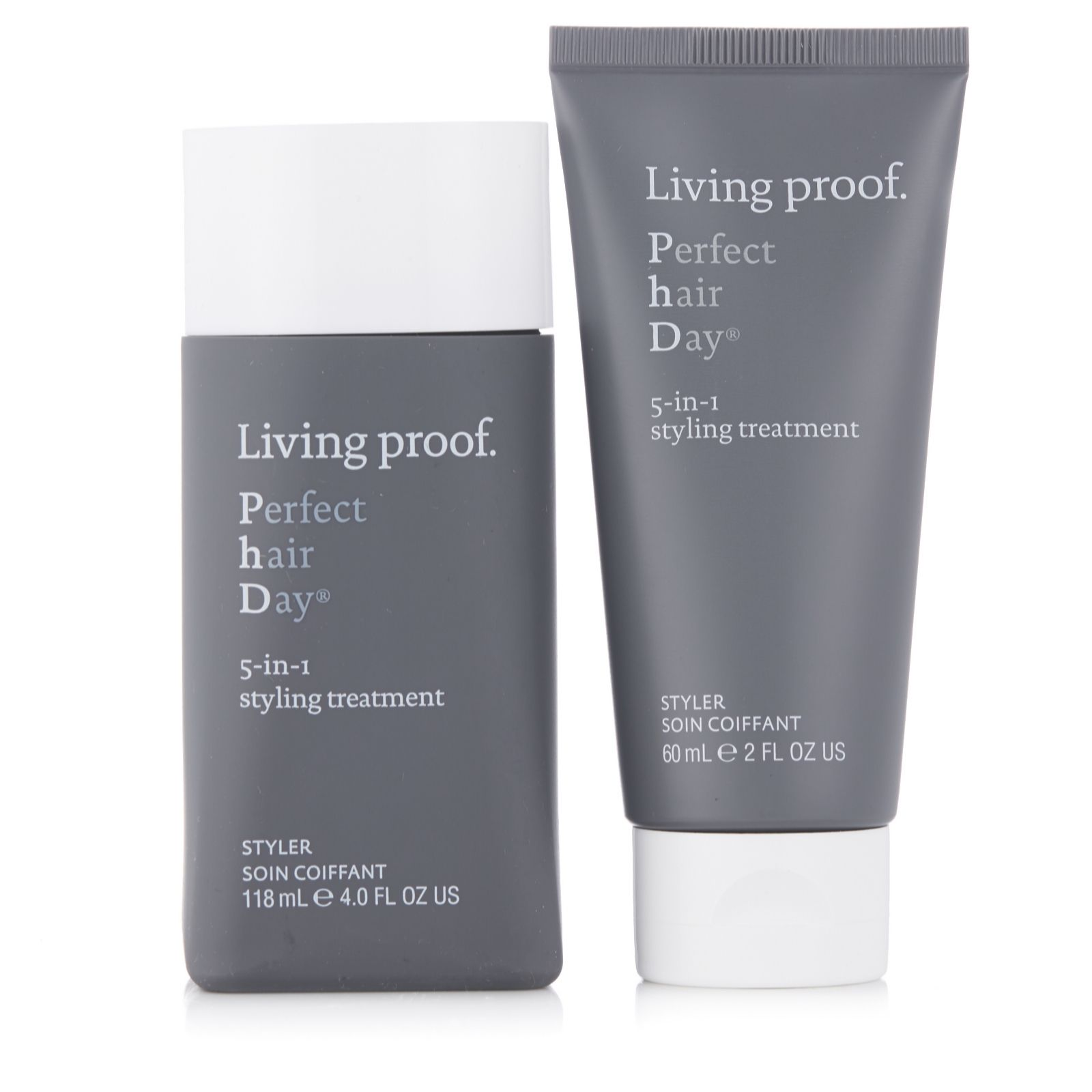 Living Proof PhD 5 In 1 Styling Treatment Home Away Duo QVC UK