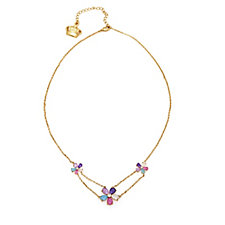Butler & Wilson Crystal Flowers 41cm Necklace