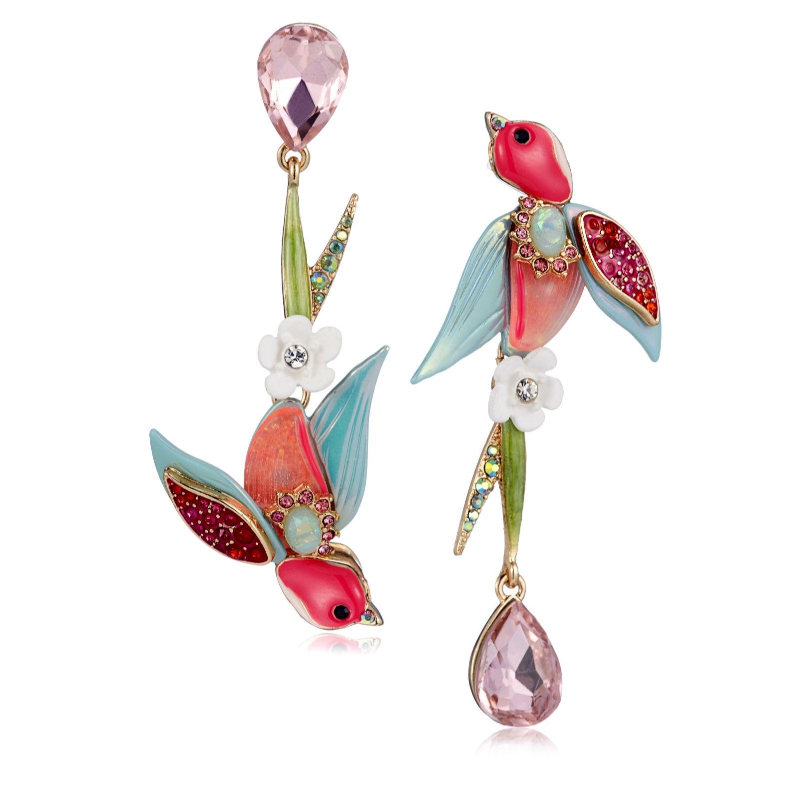 97ca11e01c4b4 Betsey Johnson Swallow Earrings - QVC UK