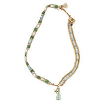 Lonna & Lilly Wrap Bead 38cm Necklace
