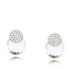 Crystal Glamour with Swarovski Crystals Pave Stud Earrings