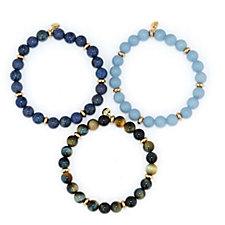 Lola Rose Fabiana Set of 3 Semi Precious Bracelets