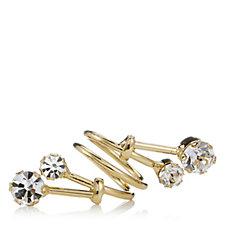 loveRocks Crystal Open Design Spiral Ring