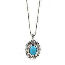 Or Paz Oval Pendant 46cm Necklace Sterling Silver