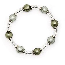 Murano Glass Pallina Stretch Bracelet