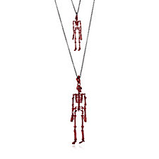Butler & Wilson Skeleton & Double Chain 65cm Necklace