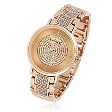 Loverocks Pave Crystal Bracelet Strap Watch