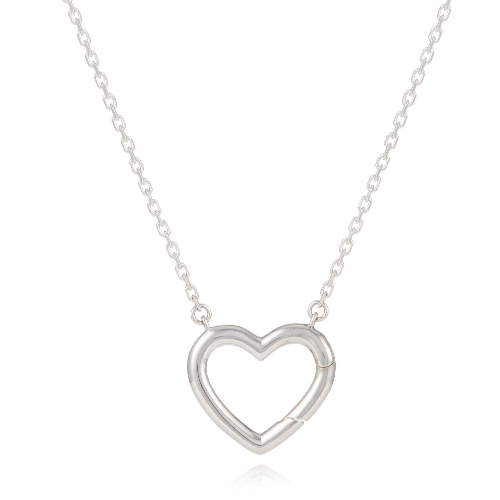 Links Of London Charm Catcher Heart 45cm Necklace Sterling