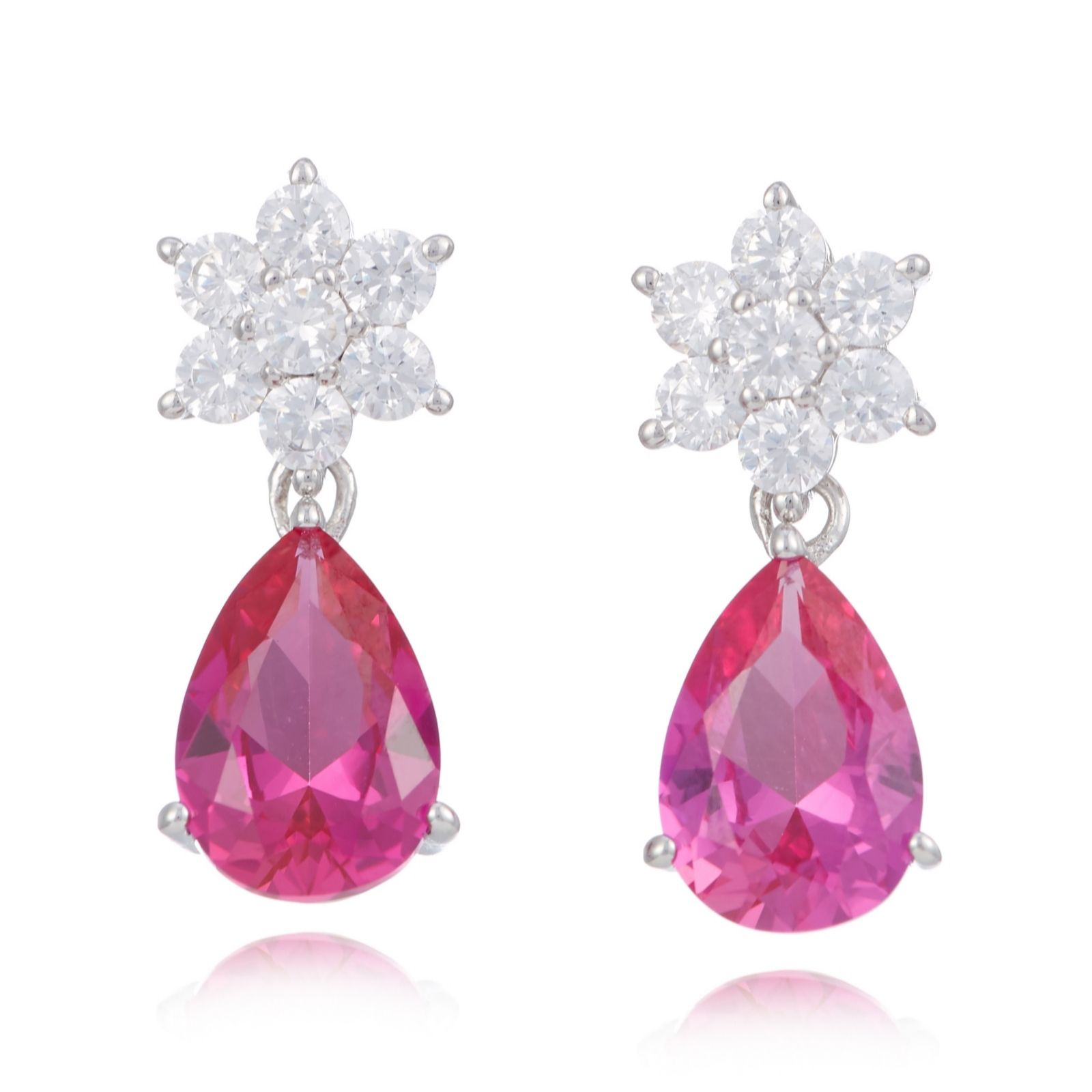 e6a9998c8 Diamonique 4.7ct tw Cluster Stud Drop Earrings Sterling Silver - QVC ...