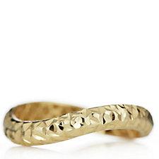 9ct Gold Diamond Cut Wave Ring