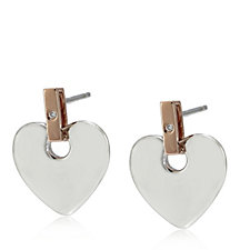 Clogau 9ct Rose Gold & Sterling Silver Cariad Earrings