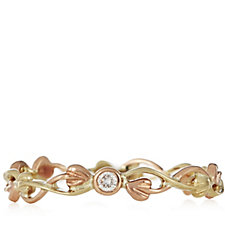 Clogau 9ct Gold Tree of Life Diamond Stacking Ring