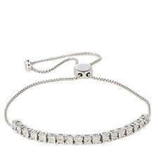 Diamond Set Friendship Bracelet Sterling Silver