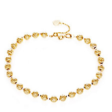 9ct Gold Faceted Bead 18cm Bracelet with 5cm Extender