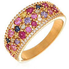 339608 - Diamonique 1.2ct tw Simulated Gemstone Ring Sterling Silver