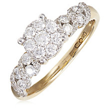 0.79ct Diamond Composite Solitaire Ring 9ct Gold