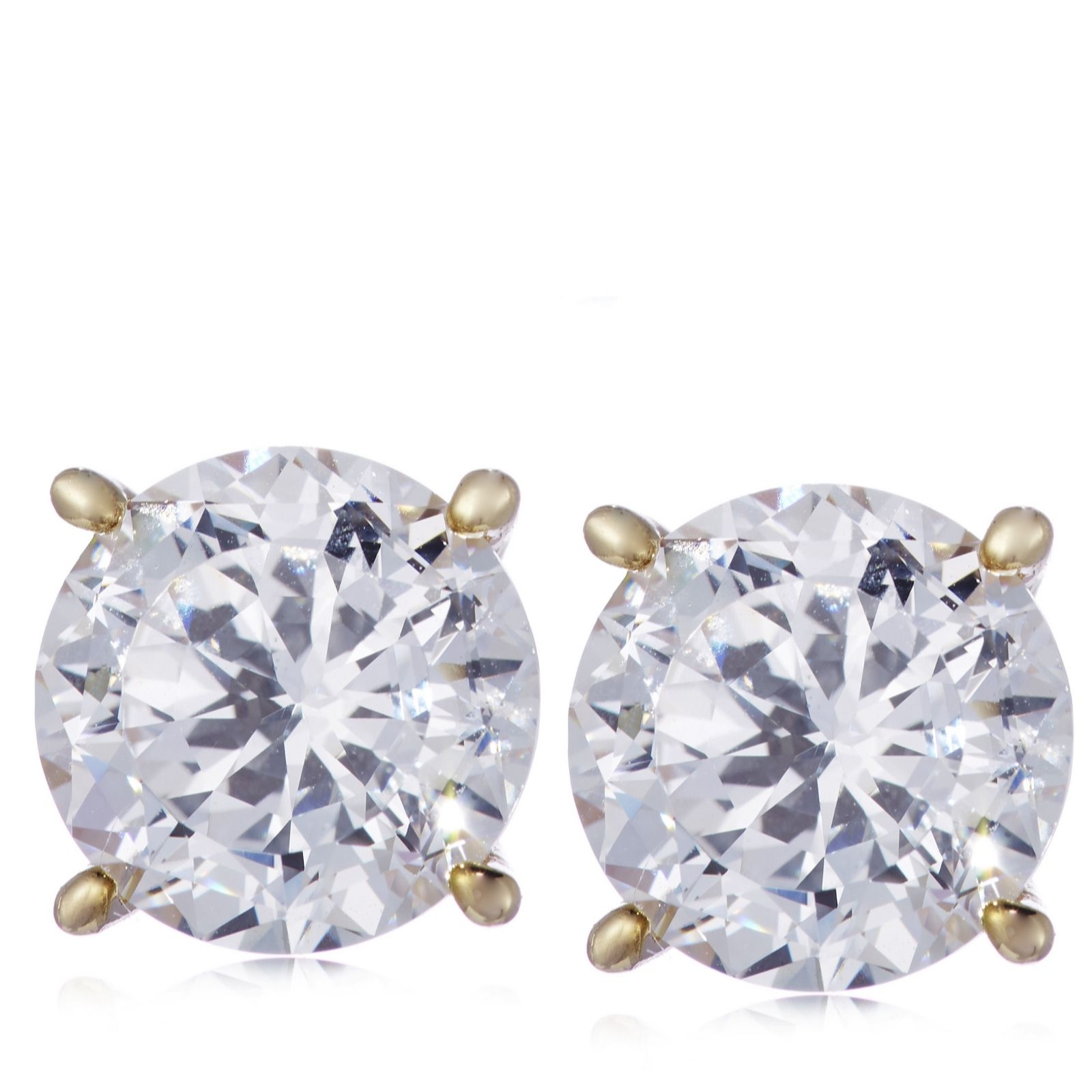 f6394ce50 Diamonique 6ct tw 100 Facet Stud Earrings Sterling Silver - QVC UK
