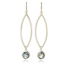 Honora 8mm Abalone Drop Earrings Sterling Silver