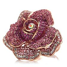 Butler & Wilson Crystal Rose Ring